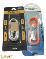 كابل شحن لأجهزة الايفون والسامسونج - منفذ USB - جودة وسرعة عالية