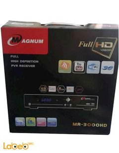 Magnum Receiver - 6000 channel - 1080p -WIFI - black - MR-3000HD