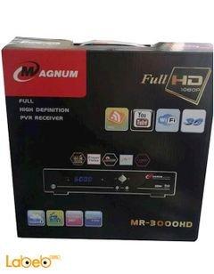 رسيفر ماغنوم - 6000 قناة - 1080 بكسل - واي فاي - اسود - MR-3000HD