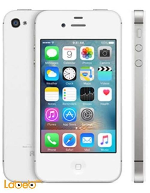 white Apple iPhone 4S 8GB A1431