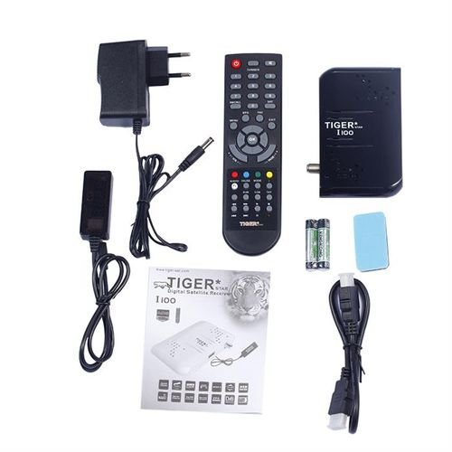 معدات رسيفر تايجر I100 منفذ USB فل اتش دي اسود