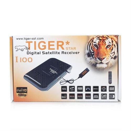 رسيفر تايجر I100 منفذ USB فل اتش دي 4000 قناة اسود