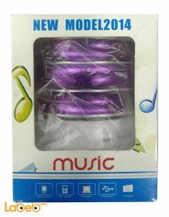 Music bluetooth headset speaker - 350mAh - Purple color