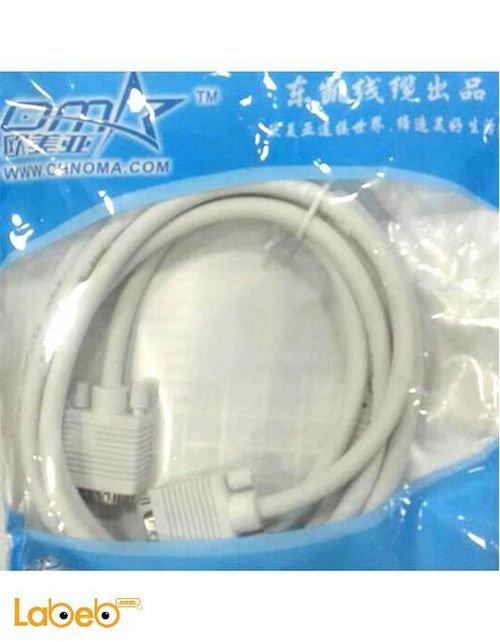 كابل شاشة VGA OMA طول 3 متر لجميع انواع الشاشات أبيض