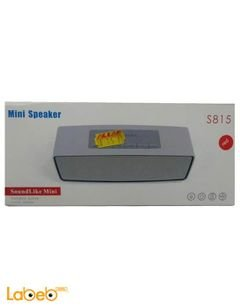 Wireless bluetooth Mini Speaker - USB - Silver color - S815