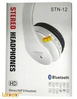 سماعات رأس بلوتوث ستيريو لاسلكية لون أبيض STN-12