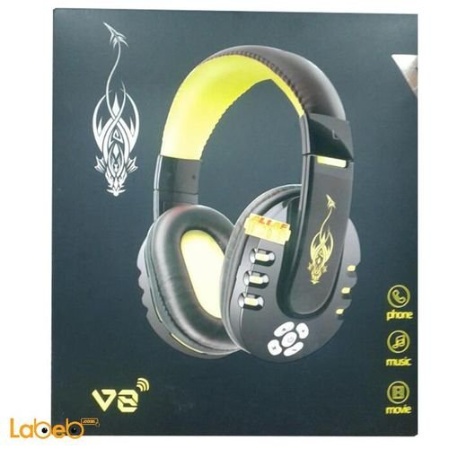 Yellow Super Bass Headphones V8