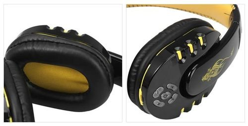 Yellow Wireless Super Bass Headphones Bluetooth V8