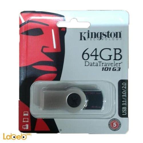 فلاش كينجستون 64 جيجابايت أسود 101 G3