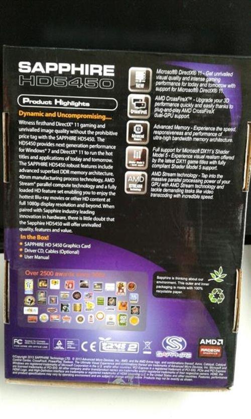 كرت شاشة Sapphire Radeon HD5450 ذاكرة 1024 ميجابايت