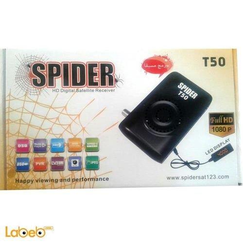 رسيفر سبايدر تي 50 1080 بكسل فل اتش دي 4000 قناة