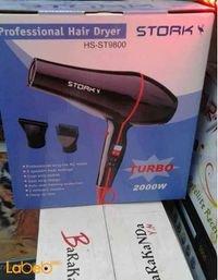 مجفف شعر ستورك 2000 واط 2 سرعات لون اسود HS-ST9800