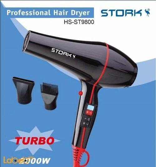 مجفف شعر ستورك - 2000 واط - 2 سرعات - لون اسود - HS-ST9800