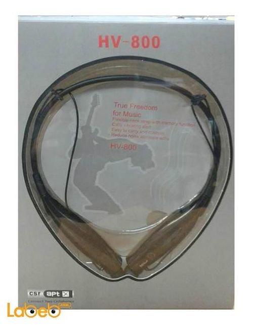 سماعات بلوتوث لاسلكية صناعة صينية لون اسود HV-800