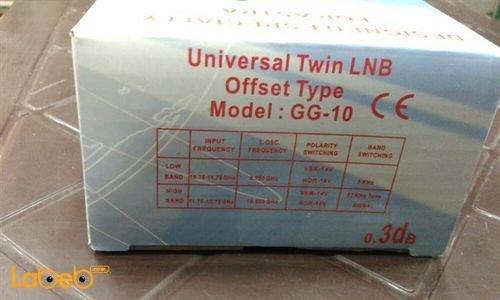 مواصفات لاقط اشارة للرسيفر G-GUARD مخرجين اسود GG-10