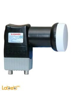 G-GUARD Universal Twin LNB Offset Type - 2 ports - black - GG-10