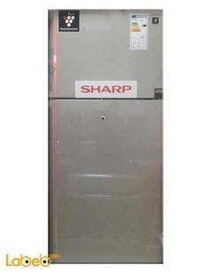 Sharp Top Mount Refrigerator - 24 CFT - 541L - silver - SJ-GC71V
