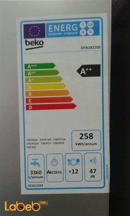 مواصفات جلاية بيكو DFN28220S  لون فضي