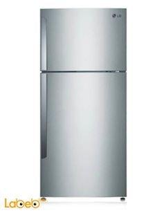 LG Top Mount Refrigerator - 22 CFT - 393l - steel - GLB-522
