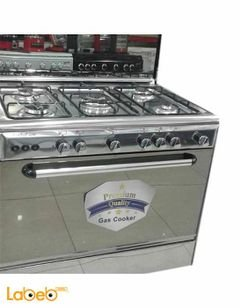 perfect gas 5 burner Gas Cooker with Oven - 60X90 cm - Stainless