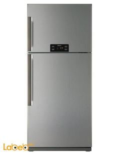 Daewoo Top Mount Refrigerator - 24CFT - 492L - silver - FR-651NTS
