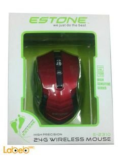 Estone wireless mouse - 6 buttons - 2.4GHz - Black & Red - E-2310