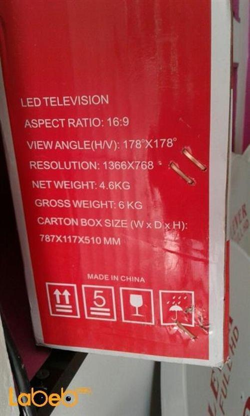 مواصفات شاشة LED ستار اكس 32 انش مدخل USB اسود 32LN4100