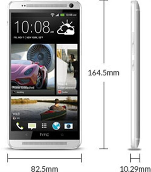 HTC one Max smartphone Dimensions