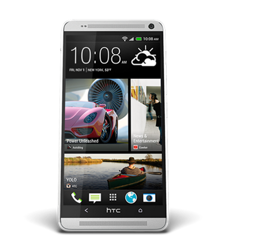 silver HTC one Max smartphone 16GB