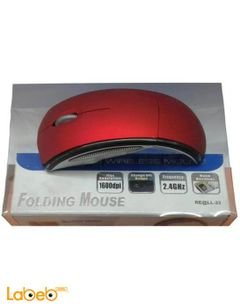Crystal Wireleess mouse - USB - 1600DPI - Red color - RE@LL-23