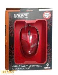 ماوس BESTA منفذ يو اس بي احمر 1000dpi موديل bt-603
