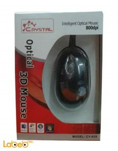 Crystal mouse - USB - 800DPI - Black color - CY-629