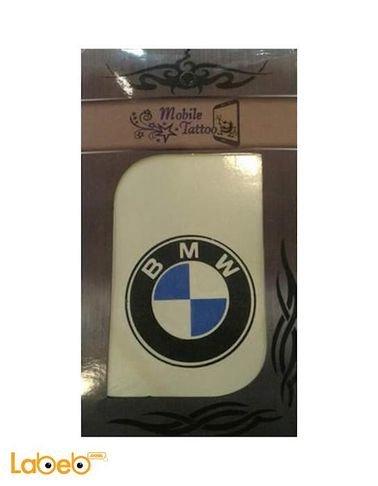 تاتو للموبايلات لوجو ماركة BMW أزرق وأسود