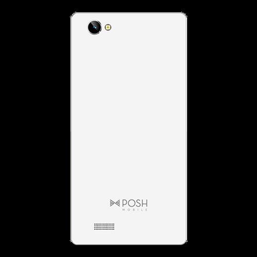 Posh Kick X511 mobile back 8GB Dual Sim 5inch white color