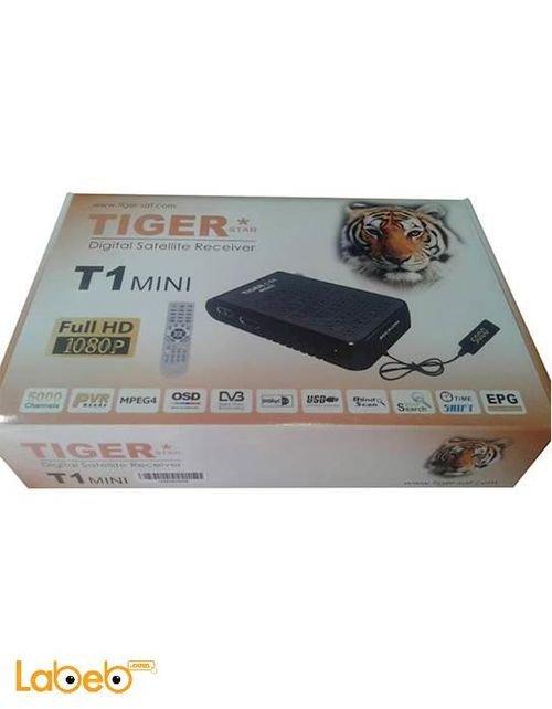 رسيفر تايجر T1 MINI فل اتش دي 1080 بكسل 5000 قناة اسود