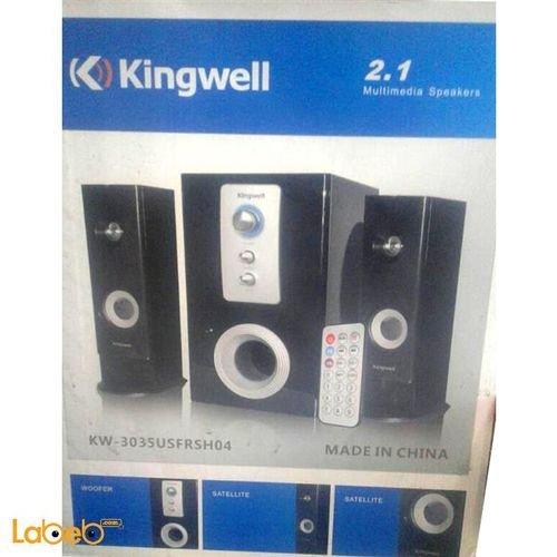 صب ووفر وسماعات kingwell - قوة 3000 واط - اسود - KW-3035USFRSH04