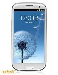 موبايل سامسونج جلاكسي S3 ذاكرة 16 جيجابايت 4.8 انش أبيض