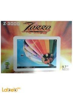 تابلت زورو Z-3000 - ذاكرة 16 جيجابايت - 9.7 انش - لون ابيض