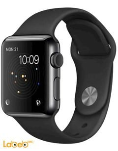 Apple Watch - 38mm Space Black Stainless Case - Black Sport Band