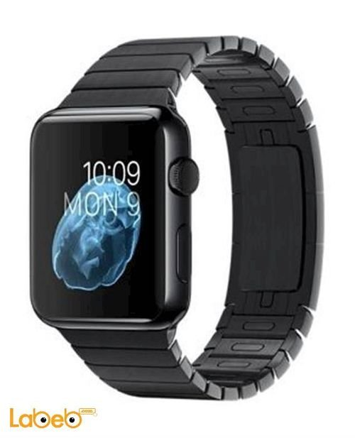 Apple Watch 38mm Space Black Stainless Case Black Sport Band