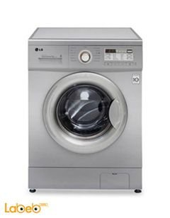 LG Front Load Washer - 8 kg - 1400rpm - silver - F1496TDT23
