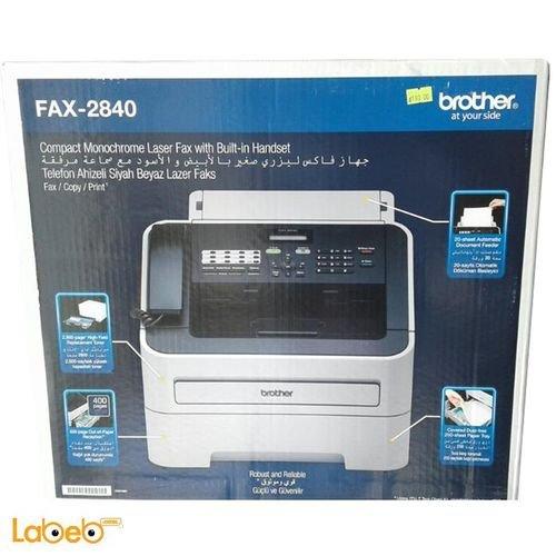 طابعة وفاكس برذر بتقنية الليزر IntelliFax-2840