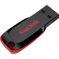 فلاش USB سانديسك - ذاكرة 8 جيجابايت - usb 2.0 - لون أسود وأحمر