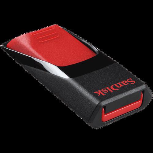 فلاش USB سانديسك Cruzer edge أسود وأحمر