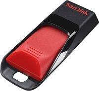 فلاش USB سانديسك Cruzer edge ذاكرة 32 جيجابايت لون أسود وأحمر
