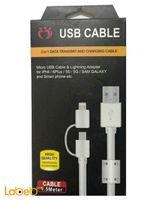 Micro Usb Cable and Lighting adapter For Iphone & Samsung 1.5m