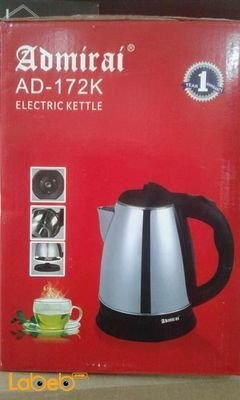 Admirai electric kettle - 1350Watt - 2L - Stainless - AD-172K