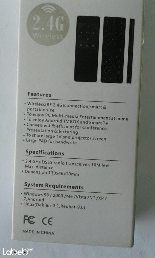 صفات ماوس وكيبورد هوائي Auxtek لاسلكي 2.4 جيجاهيرتز AM11