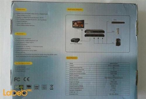 مواصفات سويتش HDMI 4.1 موديل HDMI-501