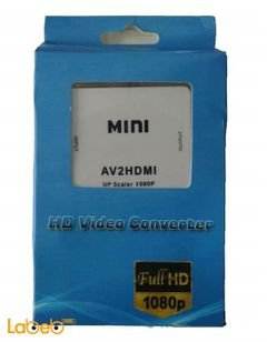 Mini converter Up Scaler 1080P - RCA to HDMI - Av2HDMzi